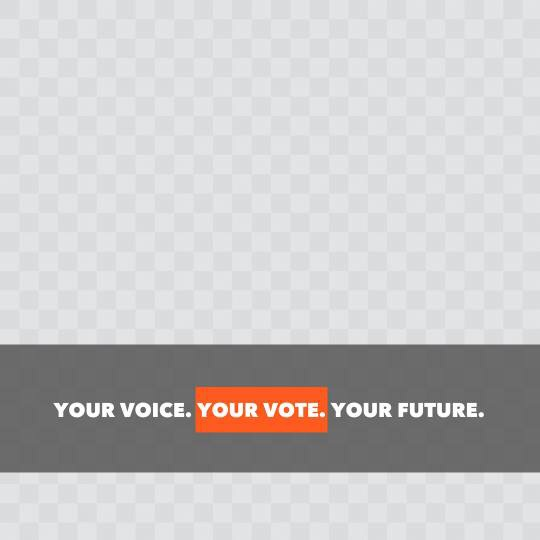 Your voice. Your vote. Your future.