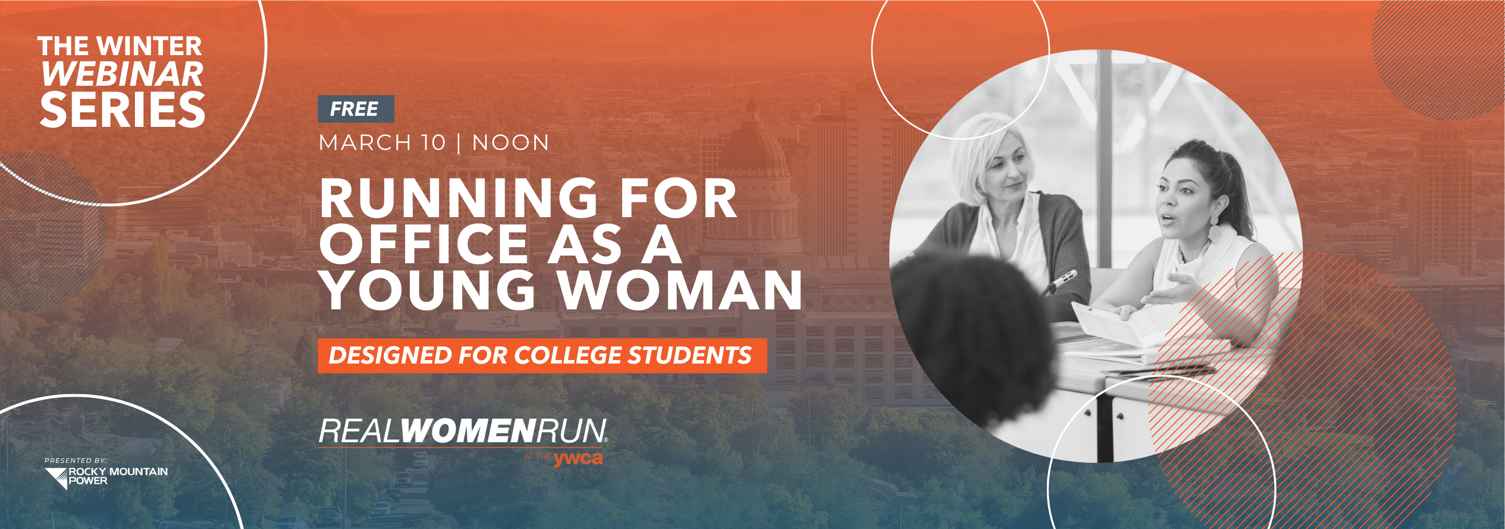 Running for Office as a Young Woman | Real Women Run® Winter Webinar Series @ VIA YOUTUBE