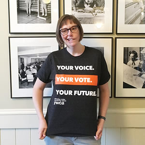 Your Voice. Your Vote. Your Future. YWCA t-shirt
